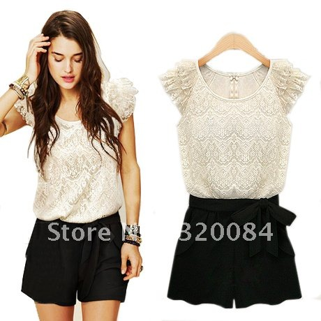 2012 summer wear women's new dress trousers summer short skirts pants and lace