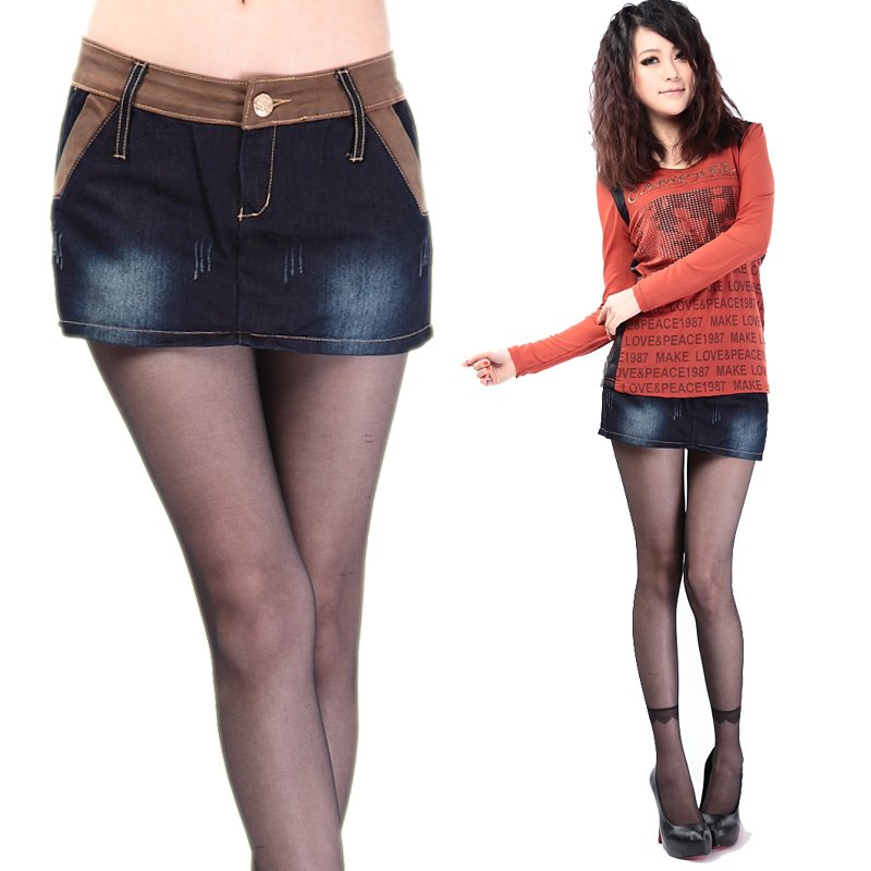 2012 summer women's denim shorts fashion basic skirt pants plus size thermal trousers