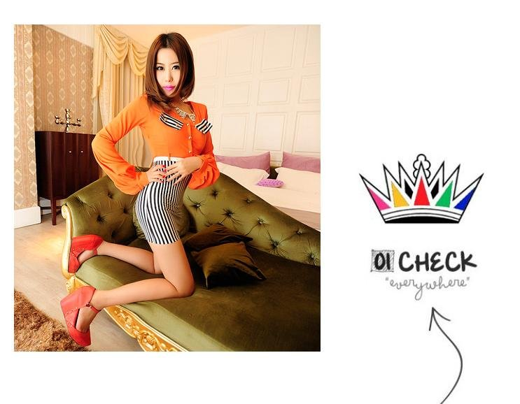 2012 temperament cultivate one's morality sexy bag hip stripe dress joining together /free shipping