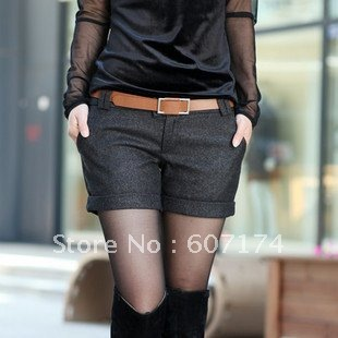 2012 Top sell&High quality ladies fashion silm Hot shorts,Boots pants,Black,#0937,Free shiping