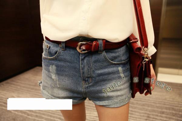 2012 vintage British high waist denim shorts