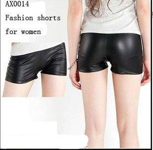 2012 Wholesale Faux Leather Tight Short Pants 10pcs/lot Best Selling Women Shorts Legging Free Ship AX0014