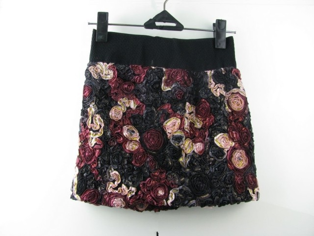 2012 winter thickening double layer flower bag skirt bust skirt a-line skirt 6 limited