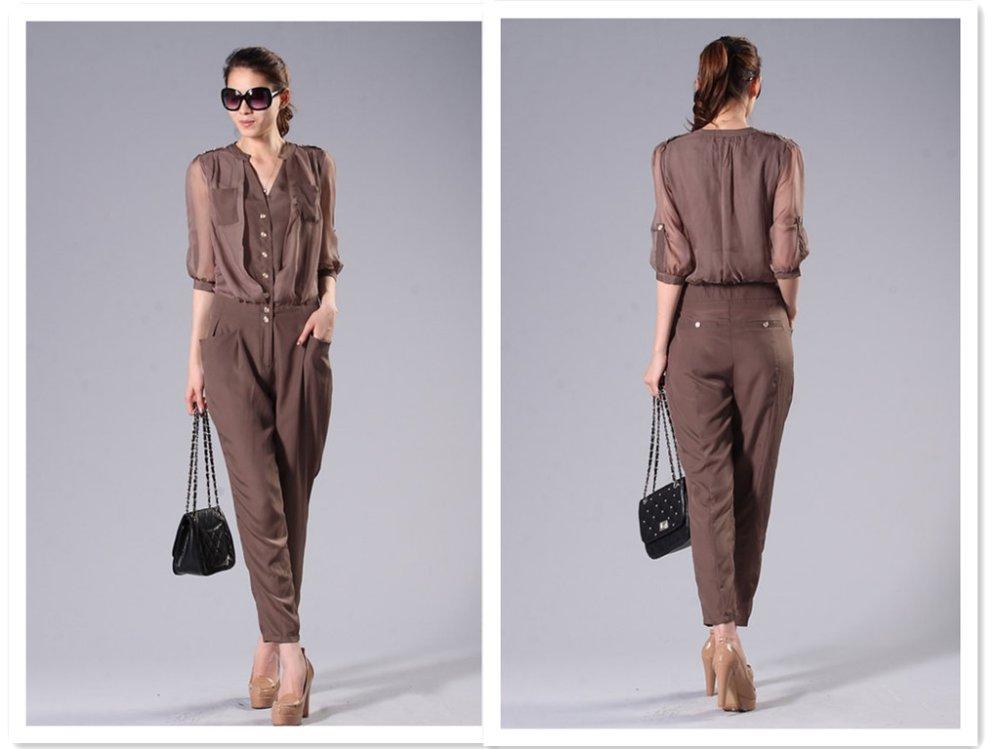 2012 women casual jumpsuits, mature temperament ripe female dress
