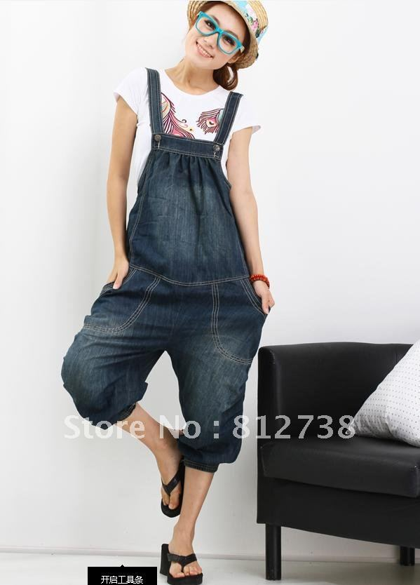 2012 women overalls Korea loose yards  coveralls Harlan jumpsuit,jumpsuits,free shipping