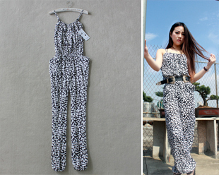 2012 women's duomaomao jumpsuits for women fashion all-match jumpsuits for women