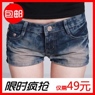 2012 women's summer slim denim shorts denim female shorts
