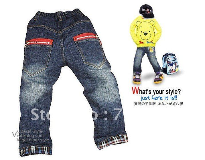 2012new design Free shipping boy and girl lovely jeans for autumn and spring trousers pants  wholesale and retail