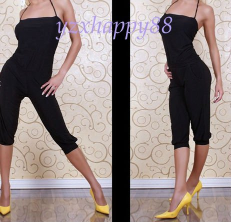 2012New Sexy fashion black woen tight elastic Rompers teddies A28 black xs-s