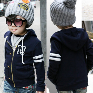 2013 autumn and winter letter embroidered baby boys clothing girls clothing sweatshirt outerwear 5256
