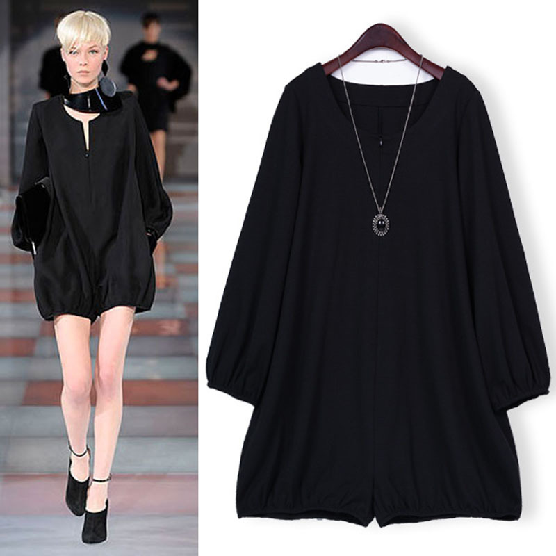 2013 Autumn New Arrival Women's Fashion Jumpsuit Europe Casual Celebrity Style Loose Long-sleeve Jumpsuit  Big Size