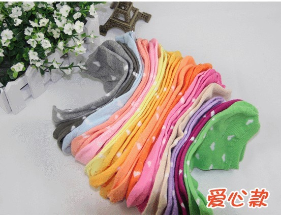 2013 Best selling woman's cotton ankle socks  , summer invisible cotton socks,mix design mix color