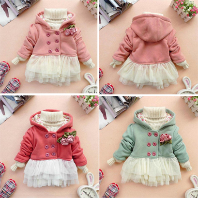 2013 children's clothing female child autumn flower skirt 's outerwear trench type female child thickening outerwear
