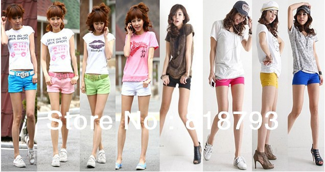 2013 cotton new .Woman's  multicolor shorts Korean Leisure super Q candy color pants wholesale 10 colors + free shipping
