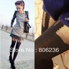 2013 Fashion Ayomi spaghetti strap Stockings Mock Suspender Tights Garter leggings  A2441