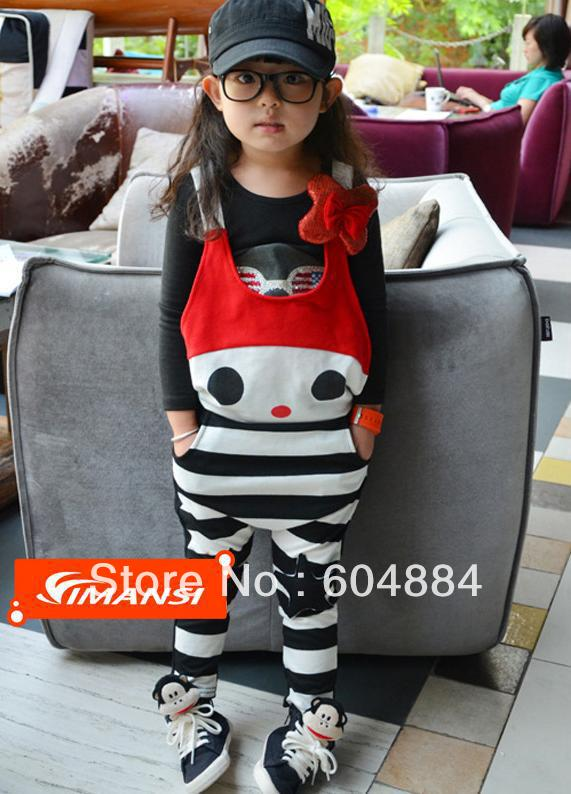 2013 Fashion Kids Overalls Boys Girls Suspender Trousers Children Spring Autumn Casual Pants free shipping 1pcs/lot