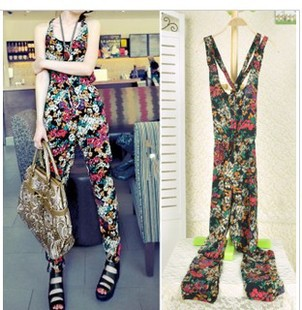 2013 fashion new arrival magnificent multicolour casual loose Jumpsuit  338