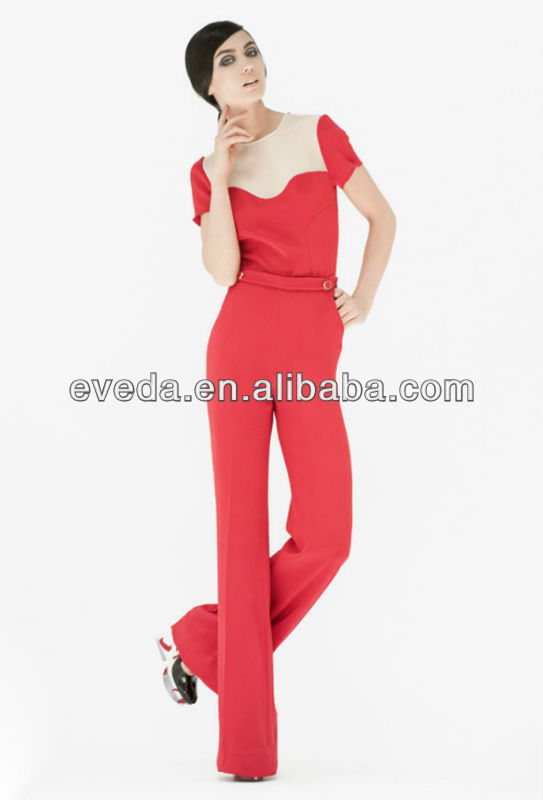 2013 fashion red jumpsuits women summer jumpsuits
