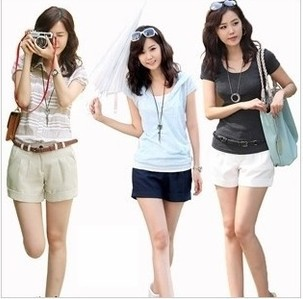 2013  Free shipping!   New Arrival Simple And Elegant Leisure-Third Of Curling Cool Shorts Free Shipping