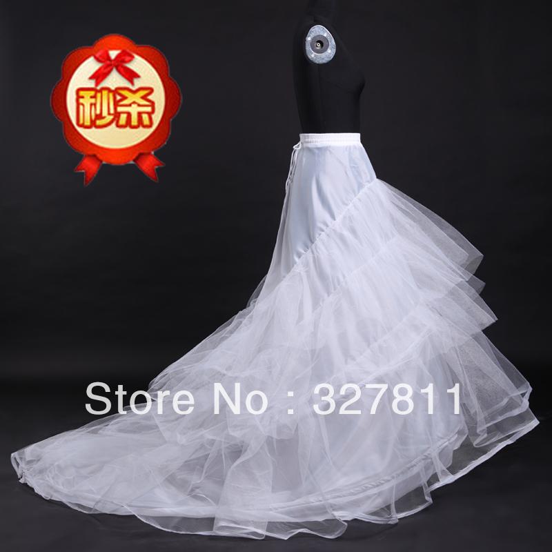 2013 Free shipping ! Wedding petticoat  panniers hard tulle dress big train bustle skirt ring pannier