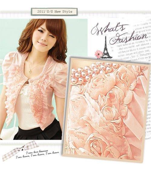 2013 Free Shipping women Rose petals small shawl jacket ladies coat Women's Suit ,3 colors