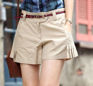 2013 free shipping women's pantskirt women's pure cotton shorts pant