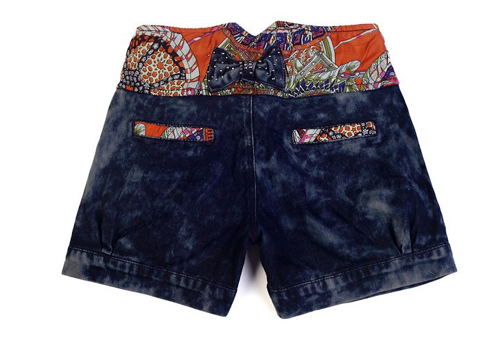 2013 Free shipping zipper paillette ornament pockets shorts for summer free size denim shorts women215-305