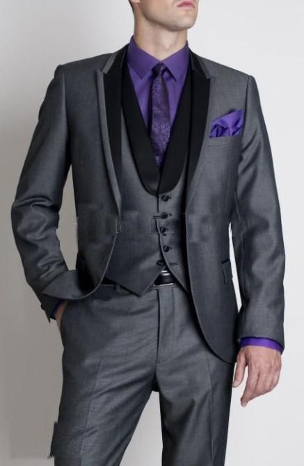 2013 Groom Tuxedos Best man Suit Wedding Groomsman/Men Suits Bridegroom (Jacket+Pants+Vest) GHF56