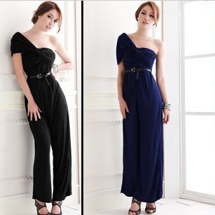 2013 high quality European new skirts pants, fashion inclined shoulder skirts pants,long elegant gowns,suspenders, Free shipping