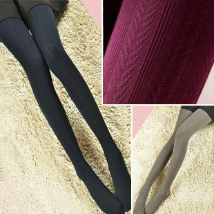 2013 Hot High Elastic  Show Thin Wheat Stripe  velvet  Wome Pantyhose Women Basic Legging 5 Color W740 Free shipping