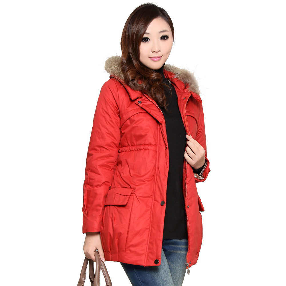 2013 hot sale fashion Maternity clothing winter 100% cotton raccoon fur thermal maternity wadded cotton-padded jacket