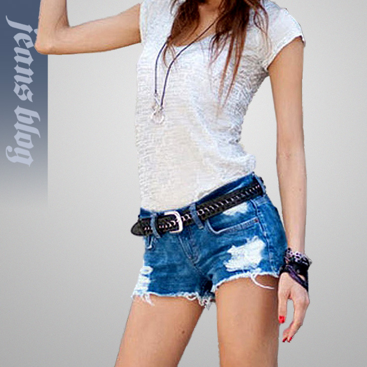 2013 Hot Sale Sexy Ladies Short  Denim Jeans Low  Waist Patchwork Pants  Free Shipping 9295
