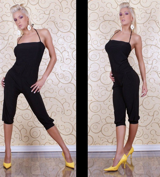 2013 Hot Selling Halter Teddy Clubwear Cropped SJSJ Evening Pageant dresses Black Cheaper price Free Shipping 087