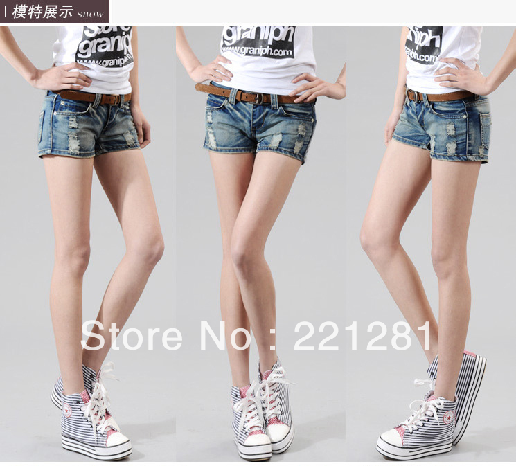 2013 jeans female fashionable slim hole loose pants size fat MM XL Sales were good quality seasons, classic