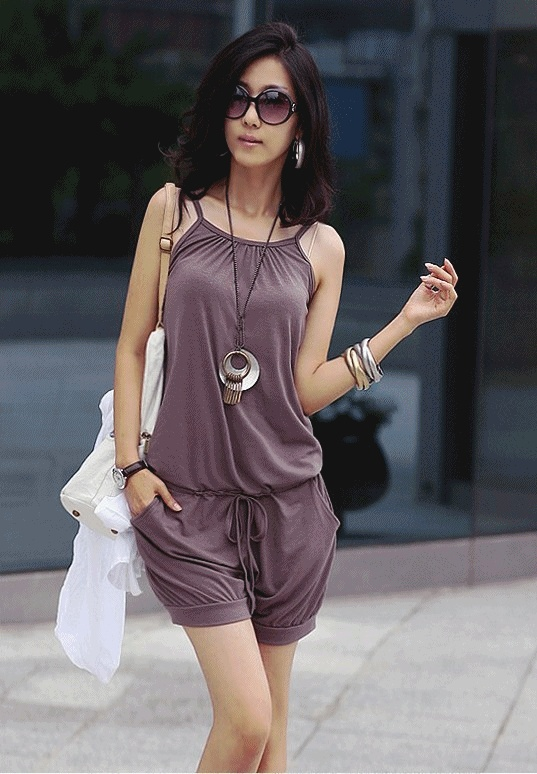 2013 Korean fashion casual Jumpsuits all match shorts for women sleeveless free shipping
