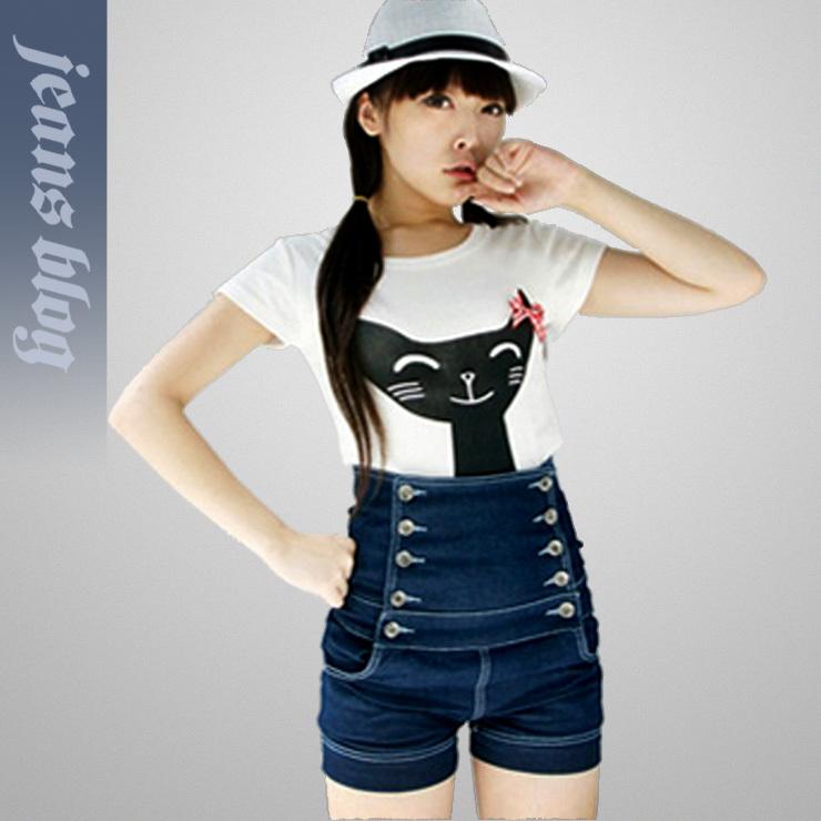 2013 Ladies New Design Short Pants Denim Fashion Jeans Free Shipping  9139