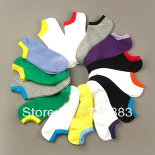 2013 NEW ARRIVAL FASHION thin candy color women's sock 100% Cotton sports invisible sock slippers ,FREE SHIPPING,20pairs/lot