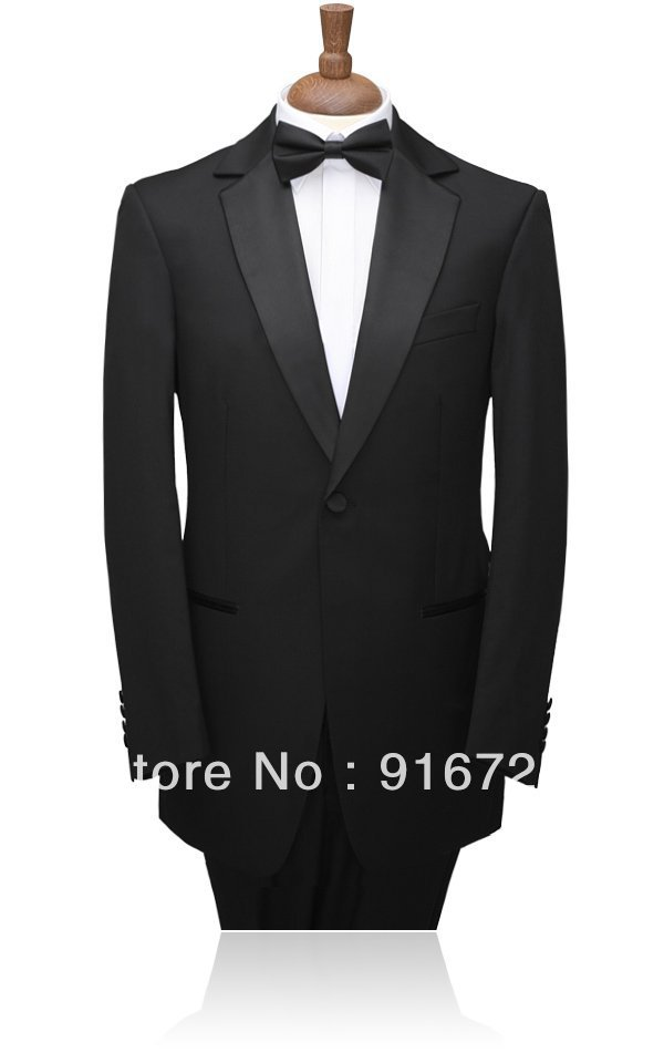 2013 New Arrival Hot Selling Black  Groom tuxedos \Groom wedding suits