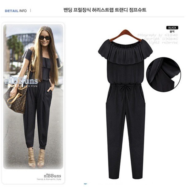 2013 NEW arrive ladies'  fashion jumpsuit overall women's rompers chiffon dress ruffled summer brand wear dropshipping