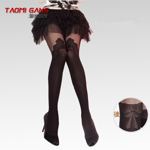 2013 New arrivel rose jacquard over-the-knee socks suspender sexy pantyhose tights thin stockings ,free shipping