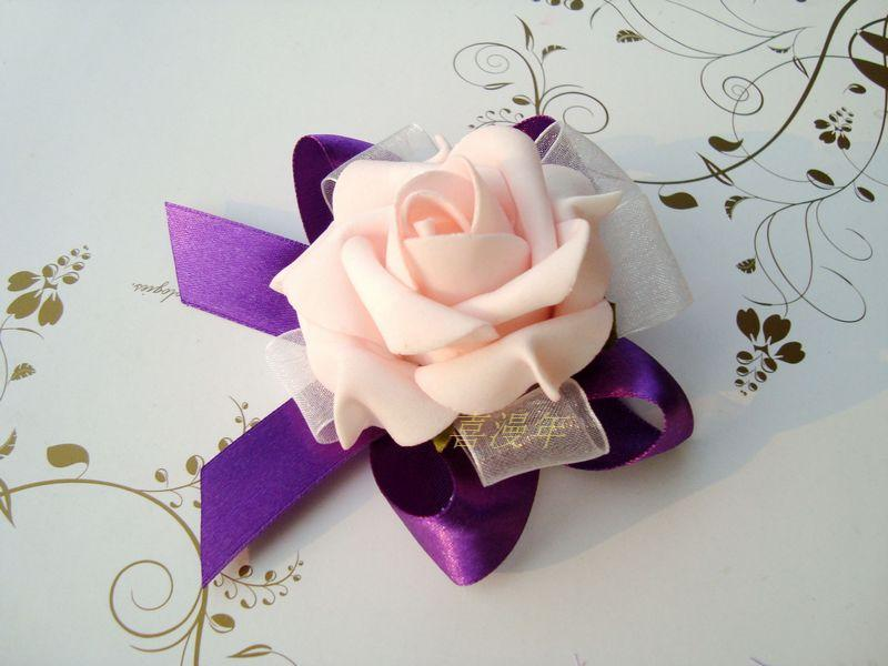 2013 New  bride hand flower  Wholesale Prom corsage Wrist Flower in Wedding Decoration FL305
