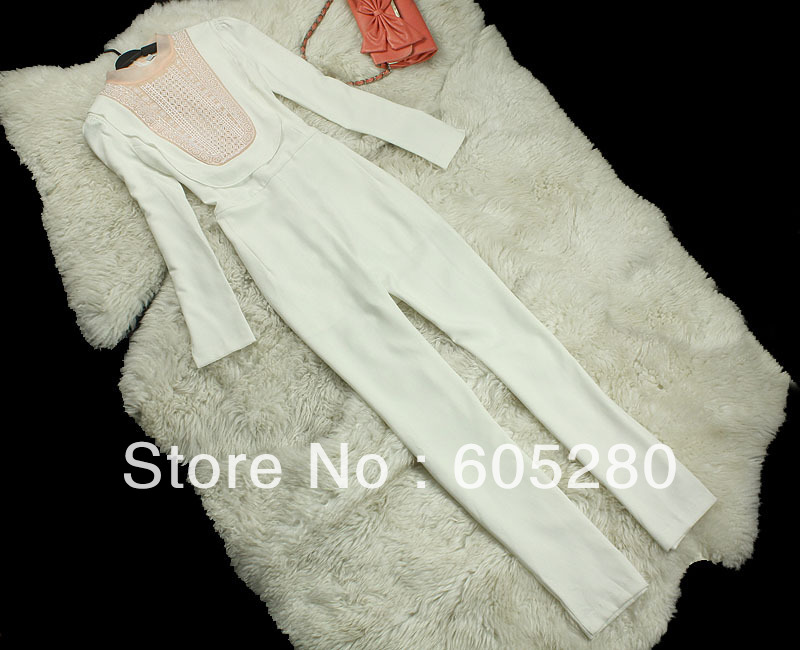 2013 new Chest woth yarn embroidery anti-wrinkle fiber conjoined twin pants SML