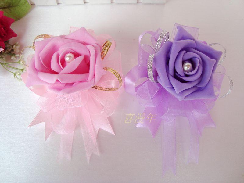 2013 New  corsage Wholesale Prom corsage Wrist corsage Wrist Flower in Wedding Decoration corsage wristlets