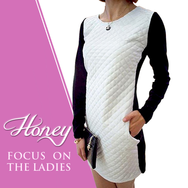 2013 New Dress Free Shipping bud Cotton Patchwork Faux  Mini Leather  Dress Women  Ladies Fashion Knitted  Casual Dress 1358
