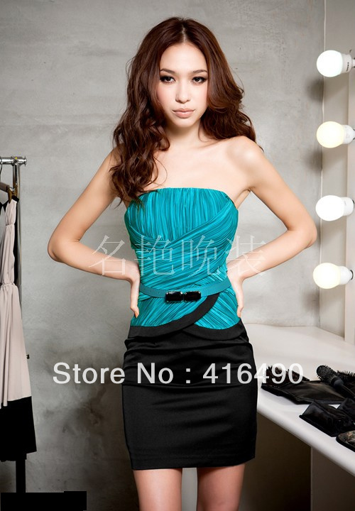 2013 new fashion blue for women, silk dresses, wedding dress, Chinese sweet style, free shipping.