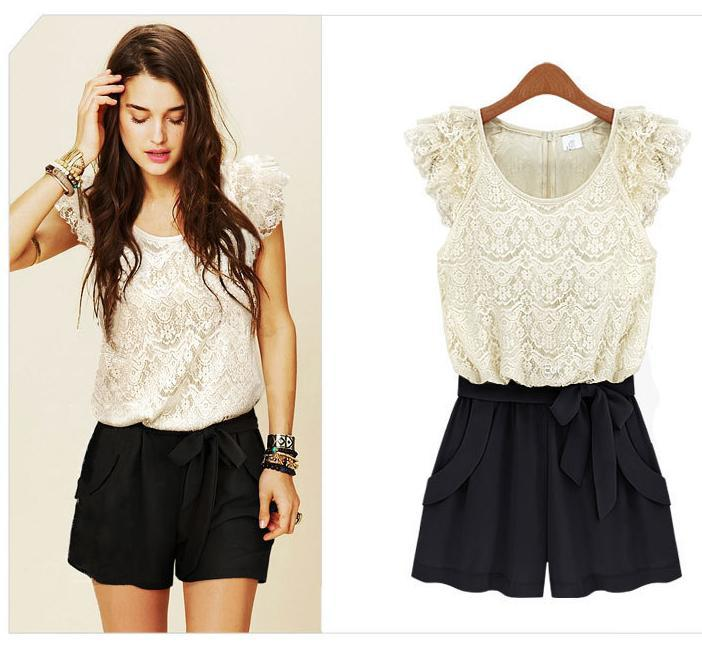 2013 New Fashion Women's One piece Jumpsuit  Dress  Good Quality Lace Design Free Shipping