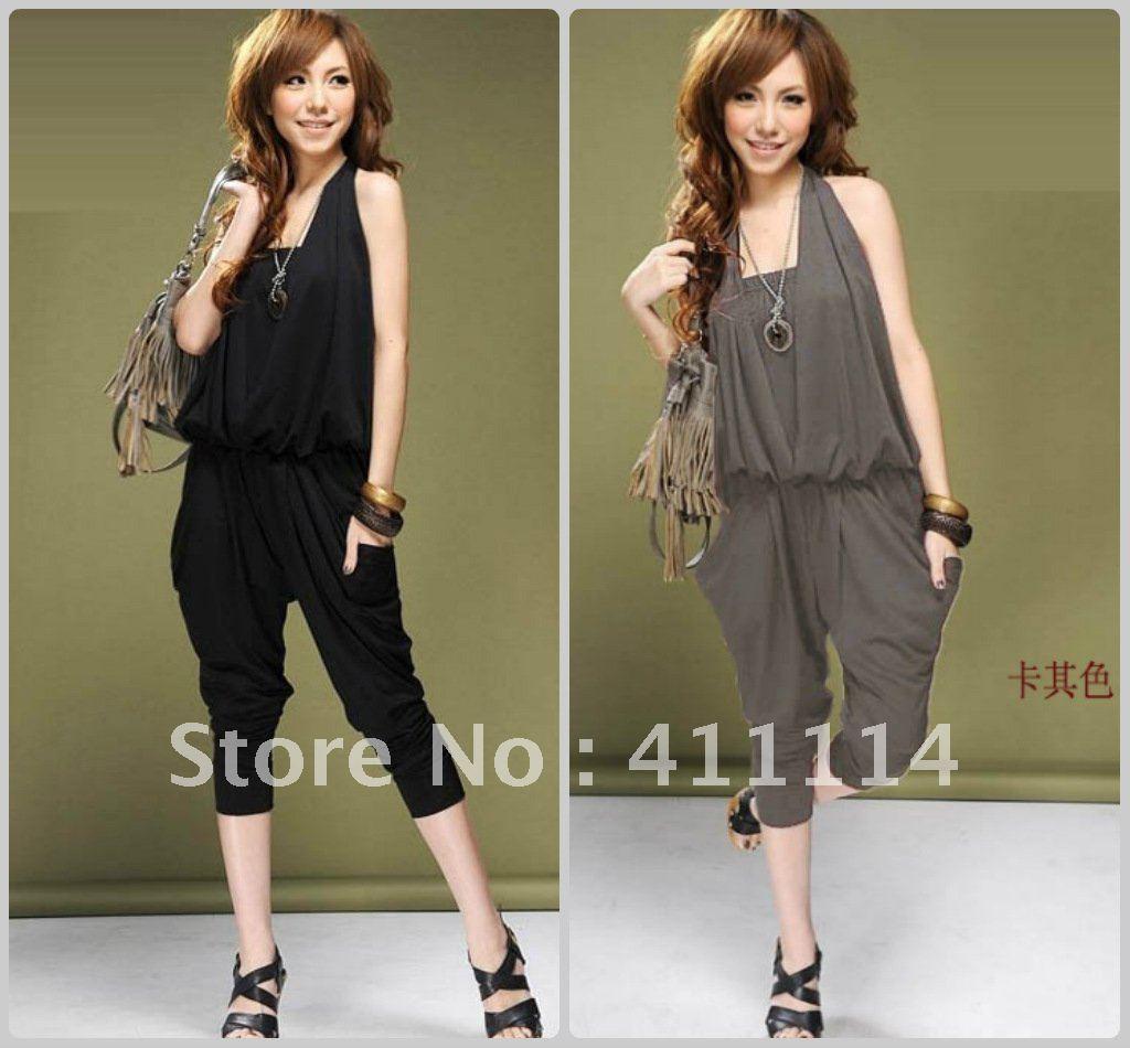 2013 new hot summer Fashion Cozy women clothes Piece shorts Halter Bra Harlan Slim jumpsuit Rompers Pants T-shirt