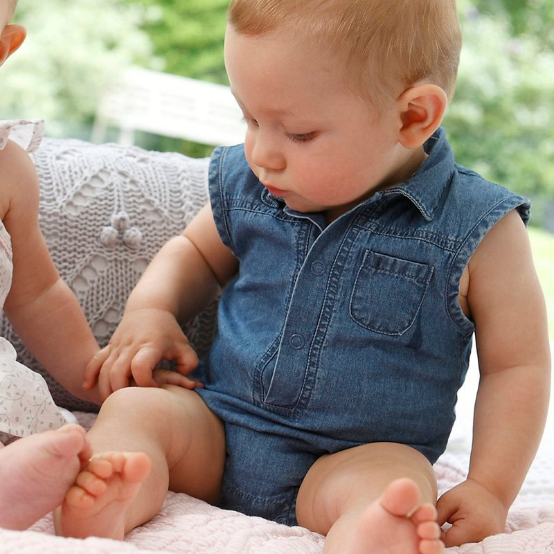 2013 New infant clothes baby fashion Romper jean children summer clothing NX-019 free shipping