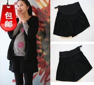 2013 new maternity shorts leisure joker corduroy pants/belly free shipping