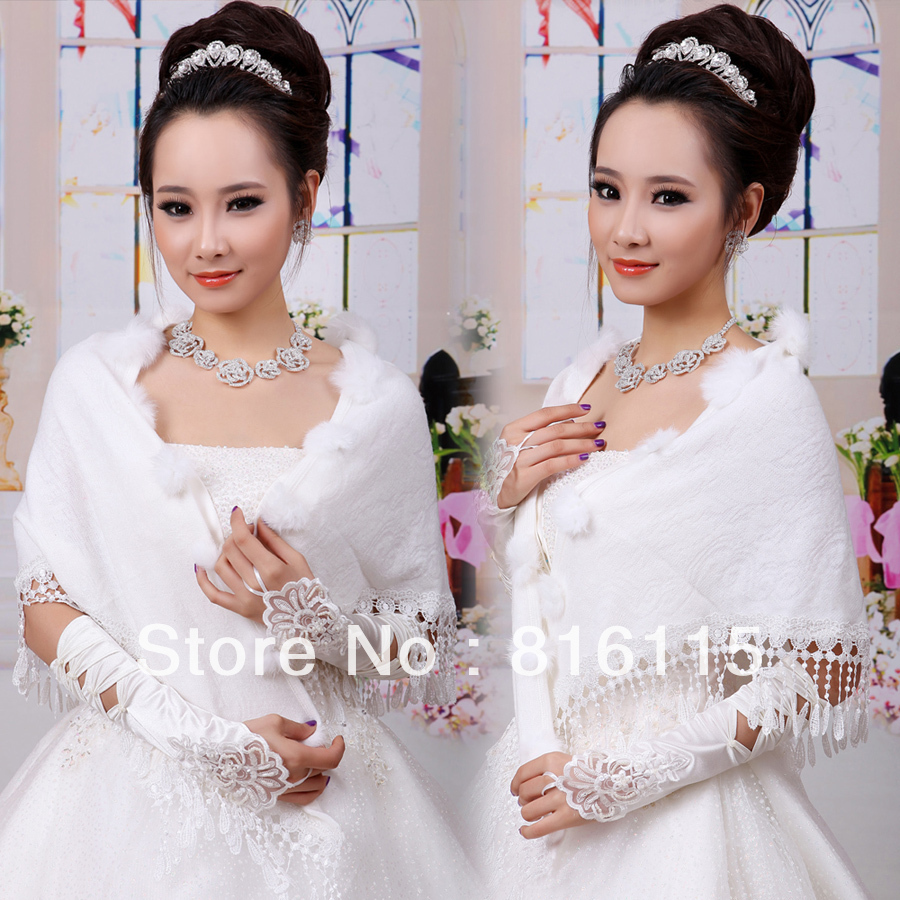 2013 new products fashion beautiful lace design bridal wedding wrap